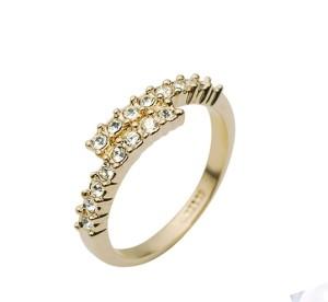 Тонкое кольцо «Союз» (бренд-ITALINA) с кристаллами Сваровски и 18-ти каратным золотым напылением купить. Цена 155 грн или 485 руб.