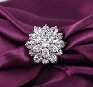 Свадебное кольцо «Эдельвейс» (бренд-UMODE) с платиновым покрытием и прозрачными цирконами купить. Цена 300 грн