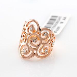 Изумительное кольцо «Амалия» (бренд-ITALINA) с золотым напылением и камнями Сваровски купить. Цена 250 грн или 785 руб.