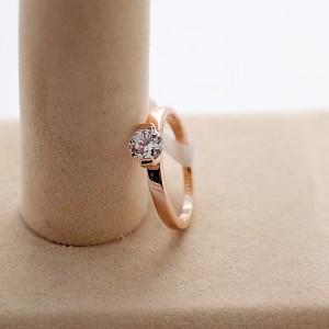 Простое кольцо «Арктика» (бренд-ITALINA) с одним камнем Сваровски и 18-ти каратным золотым напылением купить. Цена 165 грн