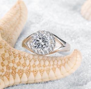 Потрясающее кольцо «Ривьера» с классным родиевым напылением и гранёнными цирконами купить. Цена 190 грн