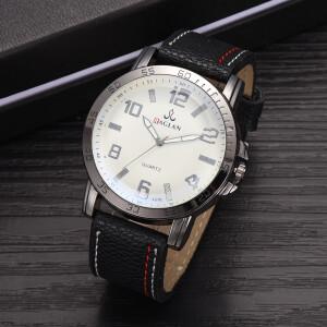Симпатичные часы «Raglan» с серебристым корпусом и чёрным ремешком фото. Купить