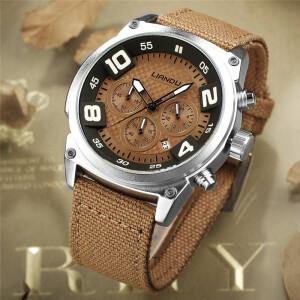 Спортивные часы «Liandu» с серебристым корпусом и тканевым ремешком купить. Цена 899 грн