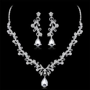 Свадебный комплект «Молизе» с серёжками и ожерельем из страз купить. Цена 250 грн