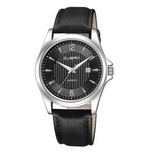 Мужские кварцевые часы «Cuena» с чёрным циферблатом в серебристом корпусе купить. Цена 399 грн