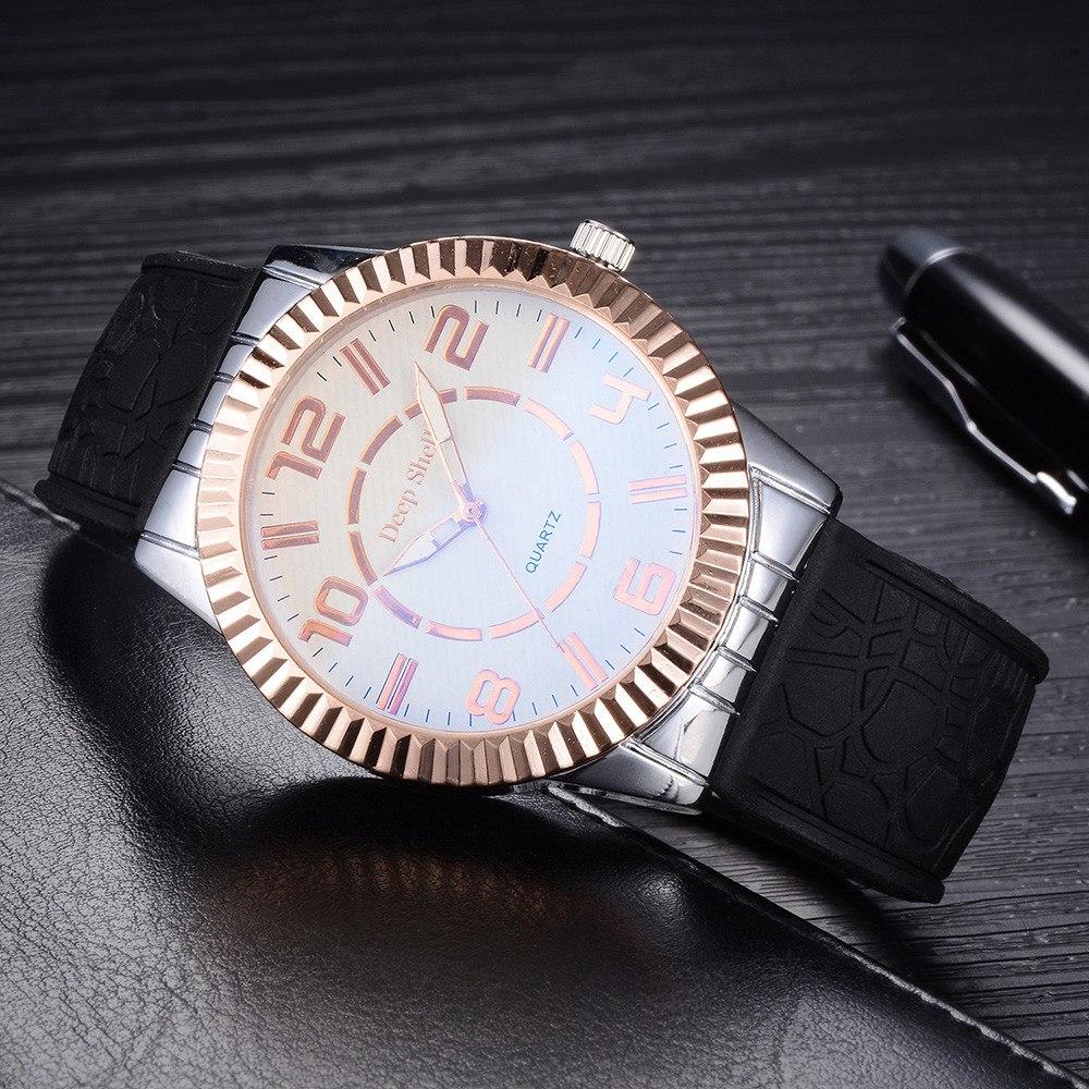 Крупные мужские часы «Deep Shell» с мягким силиконовым ремешком купить. Цена 330 грн