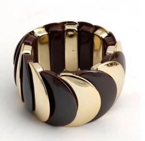 Пластиковый браслет «Красочный» из цветных звеньев в виде чешуи, соединённых резинкой фото. Купить