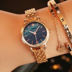 Приятные женские часы «Naidu» с красивым золотистым браслетом фото. Купить