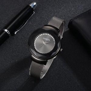 Строгие наручные часы «Gaiety» чёрного цвета на чёрном металлическом ремешке купить. Цена 299 грн