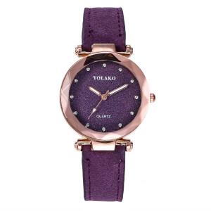 Невероятные часы «Yolako» с красивым корпусом и фиолетовым ремешком купить. Цена 275 грн