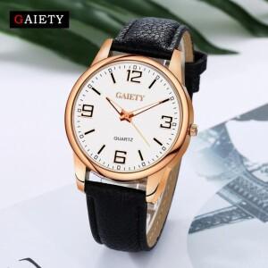 Лаконичные женские часы «Gaiety» в деловом стиле с чёрным ремешком купить. Цена 225 грн