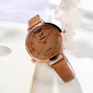 Красивого цвета часы «Pinbo» с узким лаковым ремешком купить. Цена 245 грн