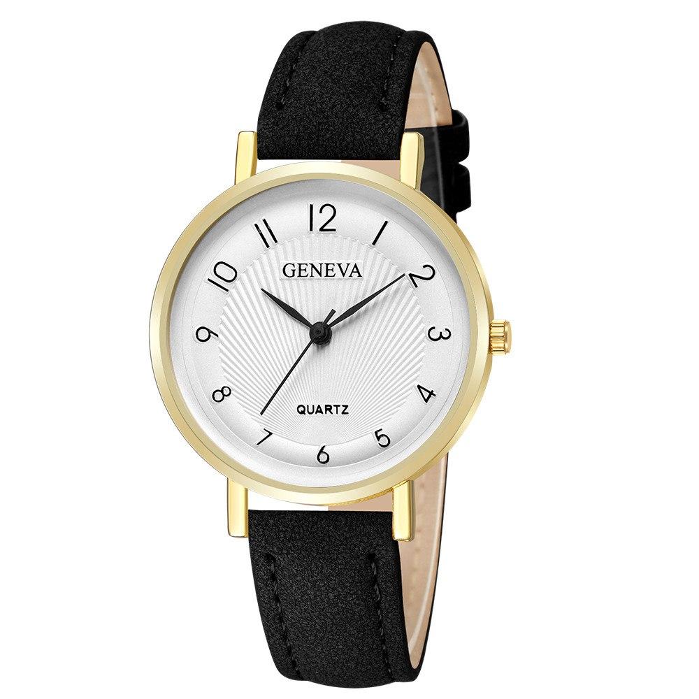 Женские часы «Geneva» с арабскими цифрами на белом циферблате купить. Цена 265 грн