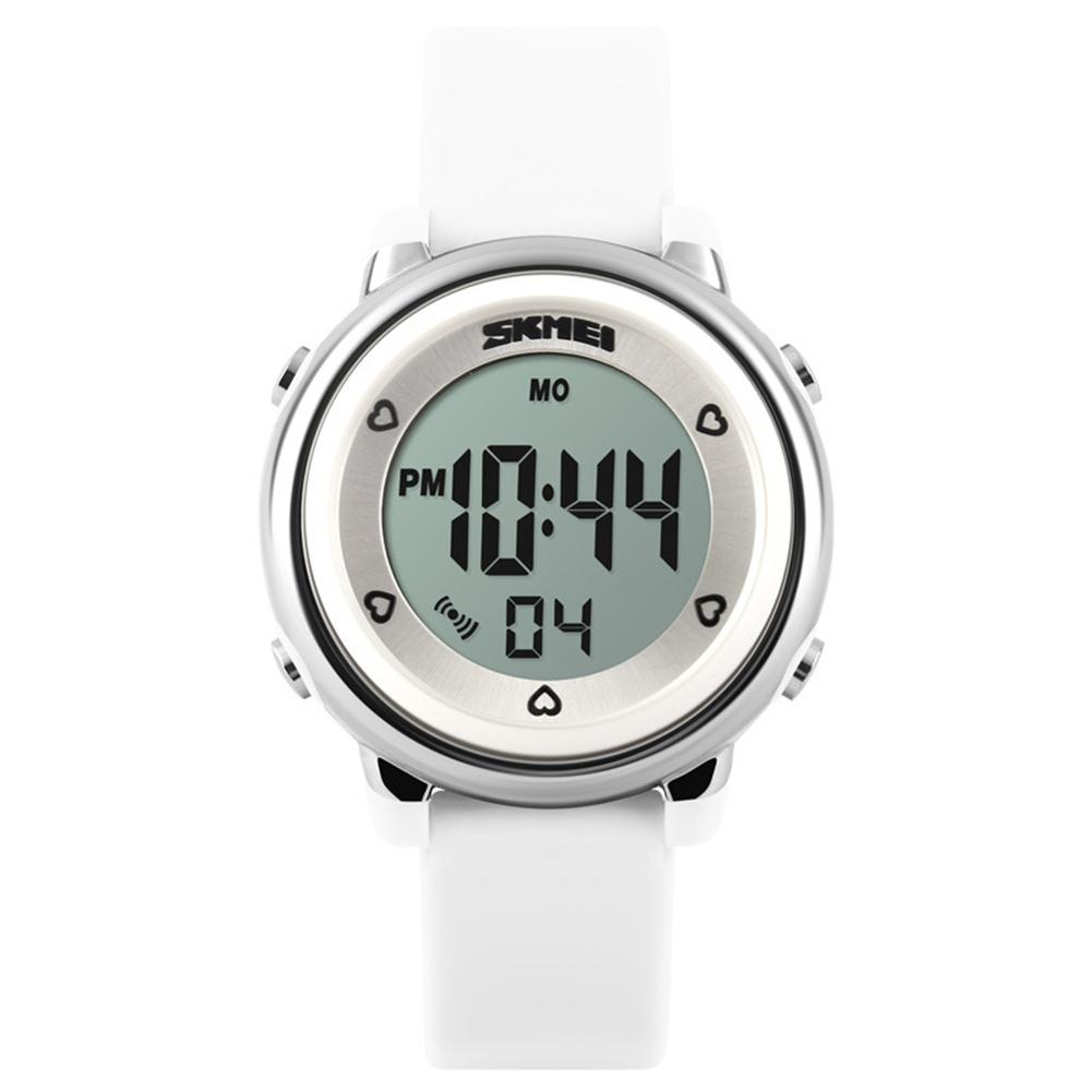 Женские электронные часы «Skmei» с белым силиконовым ремешком купить. Цена 480 грн