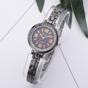 Классические часы «Lupai» чёрного цвета с тонким браслетом купить. Цена 265 грн