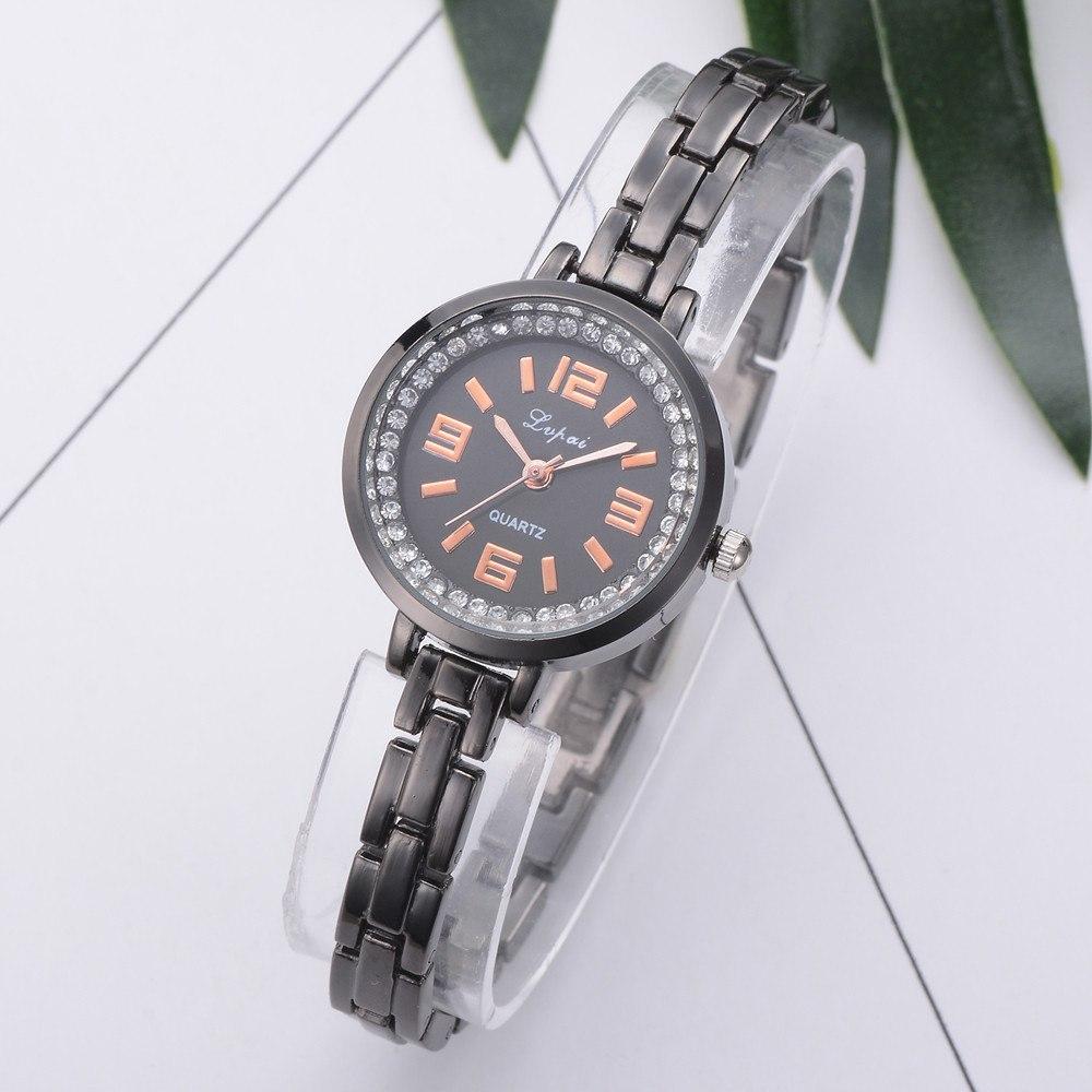 Классические часы «Lupai» чёрного цвета с тонким браслетом купить. Цена 285 грн