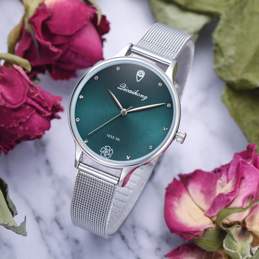 Простые женские часы «Dicaihong» с циферблатом цвета морской волны купить. Цена 365 грн