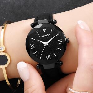 Топовые часы «Cuena» с циферблатом типа «звёздное небо» в чёрном корпусе купить. Цена 245 грн