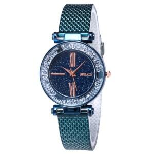 Очаровательные часы «Grealy» с полимерным ремешком цвета морской волны фото. Купить