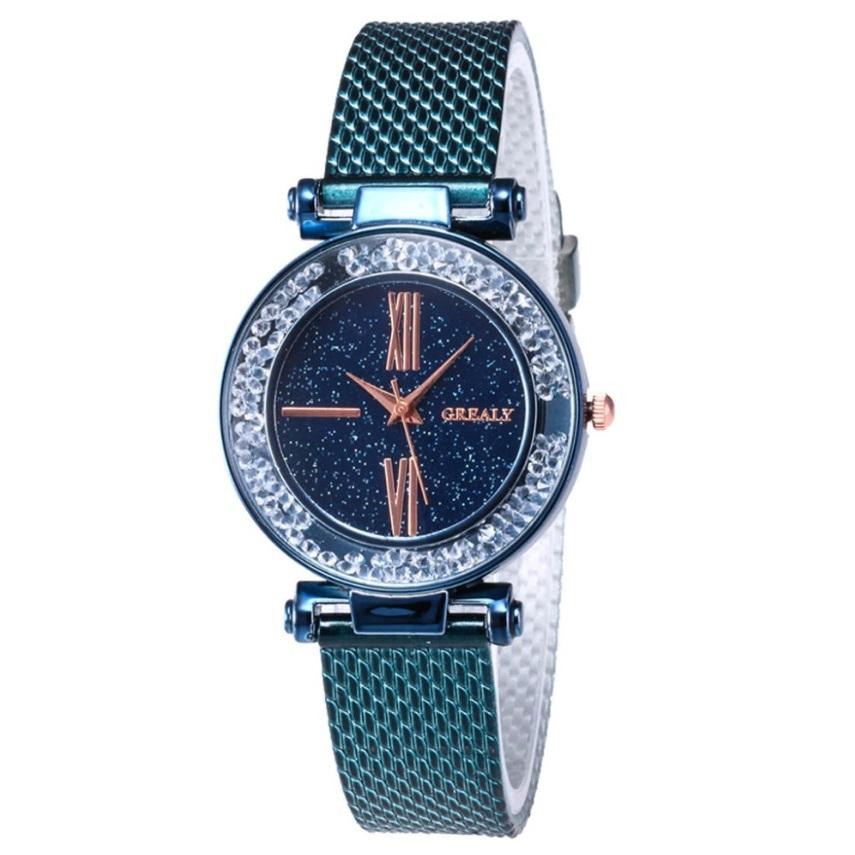 Очаровательные часы «Grealy» с полимерным ремешком цвета морской волны купить. Цена 290 грн