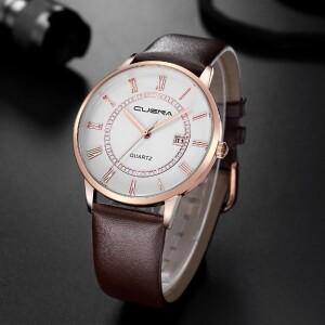 Классические часы «Cuena» с римскими цифрами на белом циферблате купить. Цена 399 грн