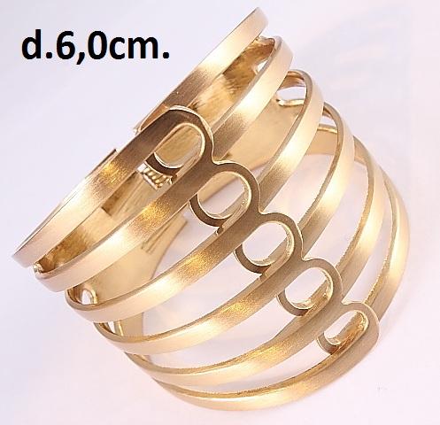 Широкий браслет «Аймара» из бижутерного сплава золотого цвета купить. Цена 245 грн