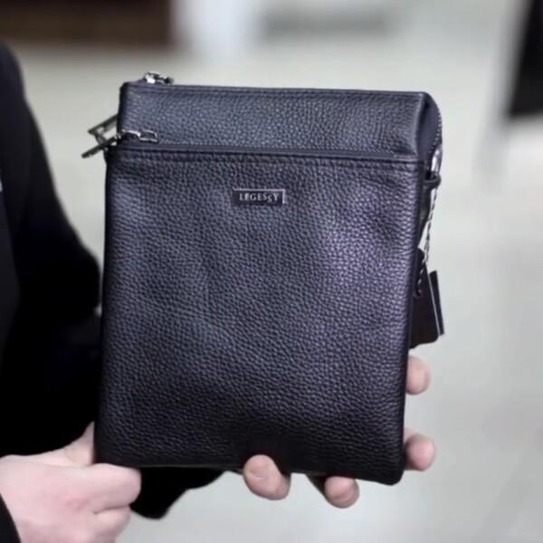 Безупречная мужская сумка «Legessy» из мягкой натуральной зернистой кожи купить. Цена 1975 грн