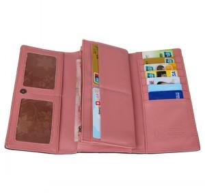 Яркий кремовый кошелёк из мягкого материала на магнитной застёжке фото 1