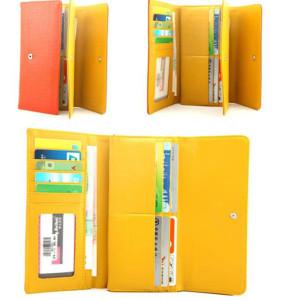 Молодёжный кошелёк «Weichen» рыжего цвета с раскладкой-трансформер фото 1