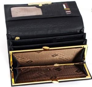 Копия женского кошелька «Gucci» чёрного цвета с металлической пряжкой фото 1