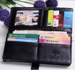 Простой женский чёрный кошелёк с магнитной застёжкой на хлястике фото 1