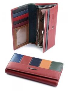Разноцветный кошелёк «Imperial Horse» из натуральной кожи купить. Цена 499 грн