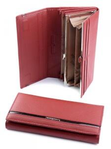 Тёмно-красный кожаный кошелёк «Imperial Horse» с магнитной застёжкой купить. Цена 499 грн