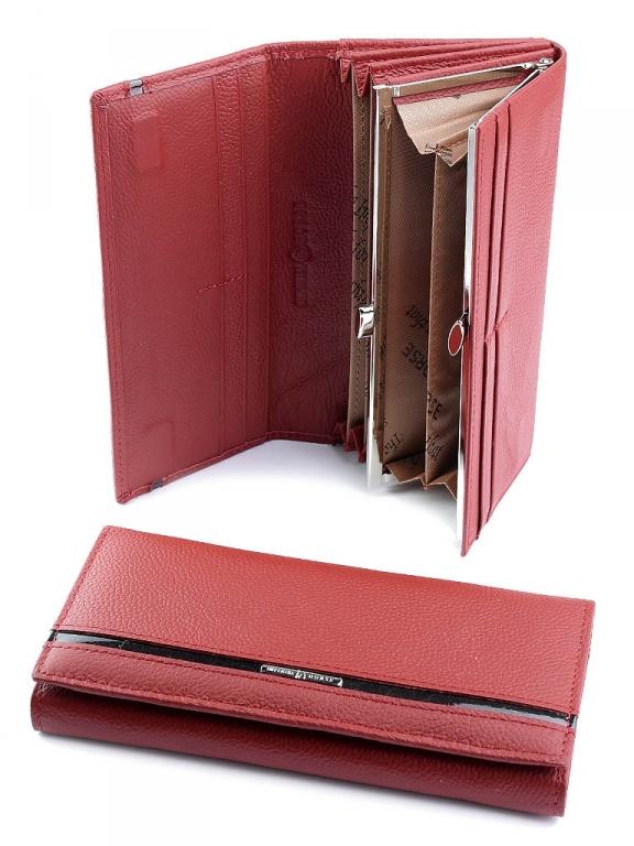 Тёмно-красный кожаный кошелёк «Imperial Horse» с магнитной застёжкой купить. Цена 585 грн
