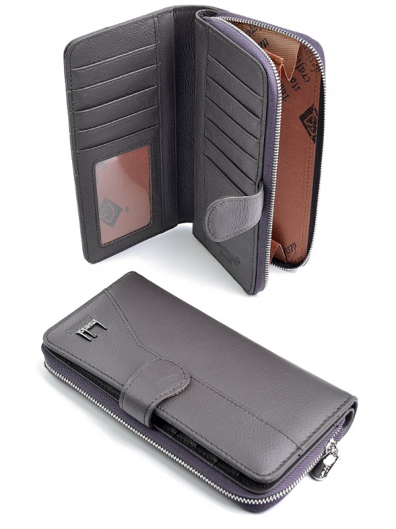 Практичный кошелёк «Imperial Horse» из мягкой кожи пурпурного цвета купить. Цена 599 грн