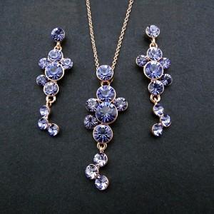 Обворожительный набор «Виноград» (бренд-ITALINA) с фиолетовыми кристаллами Сваровски и позолотой купить. Цена 599 грн или 1875 руб.