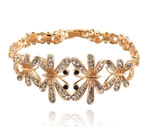 Интересный браслет «Фантазия» в виде бабочек с золотым покрытием и стразами Сваровски купить. Цена 280 грн или 875 руб.