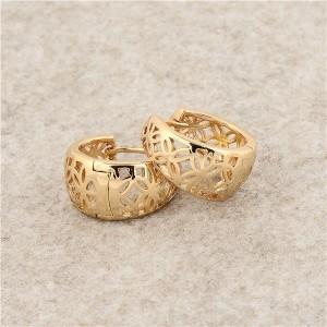 Обыкновенные серьги «Озорные» с качественным золотым напылением, без камней и вставок купить. Цена 99 грн