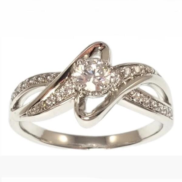 Современное кольцо «Экспрессия» интересного дизайна с родиевым покрытием купить. Цена 199 грн