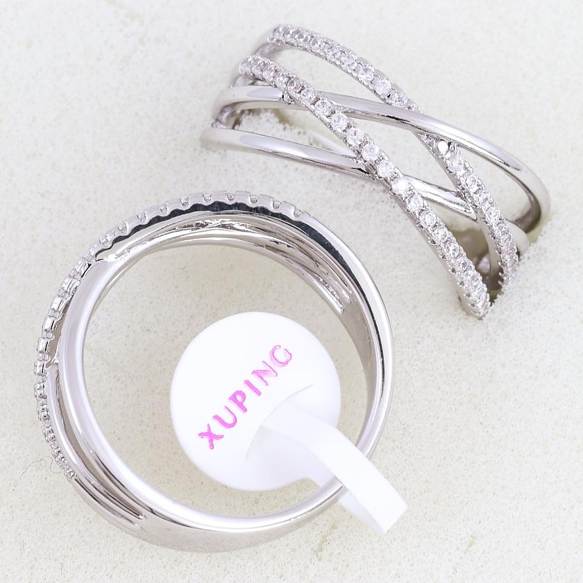Изящное кольцо «Интрига» с мелкими фианитами и покрытием из родия купить. Цена 185 грн