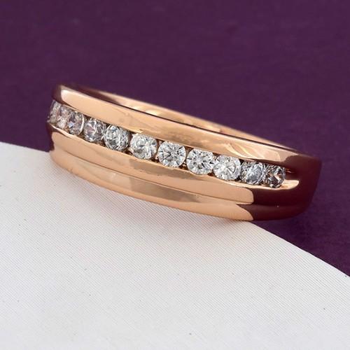 Лаконичное кольцо «Римини» с дорожкой из камней в позолоченной оправе купить. Цена 165 грн