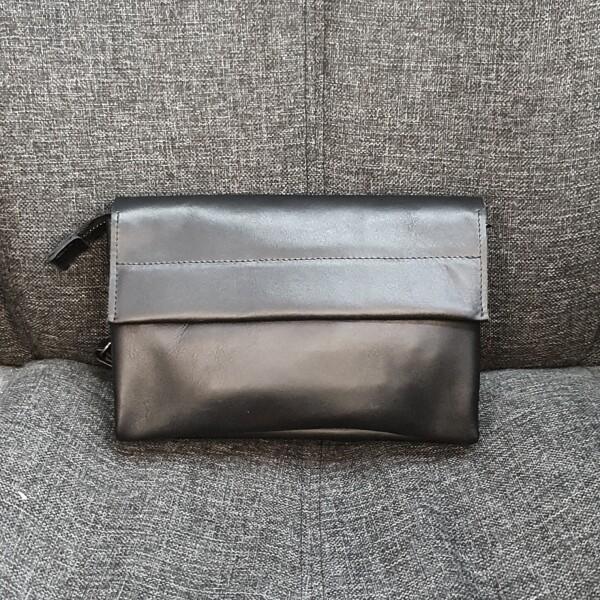 Классический мужской клатч «SfiP» из гладкой кожи с клапаном на магнитах купить. Цена 1885 грн