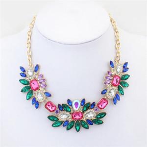 Яркое ожерелье «Карнавал» с разноцветными камнями на золотистой цепочке купить. Цена 210 грн или 660 руб.