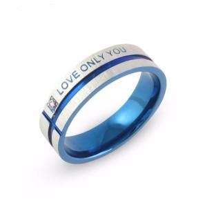 Необыкновенное синее кольцо «Luxury» из медицинской стали с надписью и маленьким фианитом купить. Цена 110 грн или 345 руб.