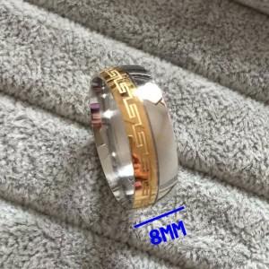 Красивое стальное кольцо «Luxury» с орнаментом в греческом стиле купить. Цена 150 грн или 470 руб.