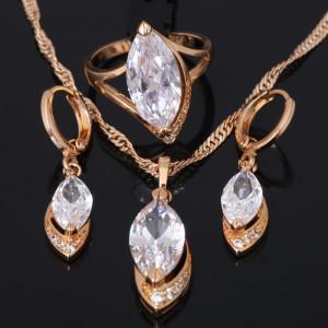 Аристократичный комплект «Княгиня» с высококачественным золотым покрытием и фианитами купить. Цена 599 грн
