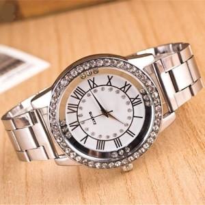 Элегантные часы «Kanima» с римскими цифрами, стразами и железным браслетом купить. Цена 280 грн