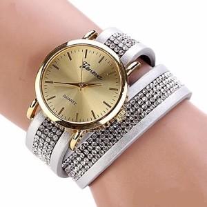 Новые женские часы «Geneva» с длинным ремешком, усыпанным стразами купить. Цена 220 грн