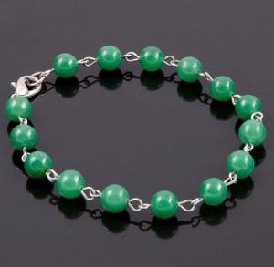 Обыкновенный браслет с бусинами из натурального нефрита купить. Цена 125 грн или 395 руб.
