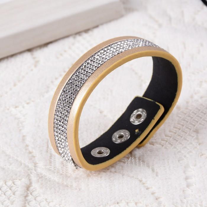 Очень стильный браслет «Кимберли» золотого цвета с множеством мелких кристаллов купить. Цена 100 грн